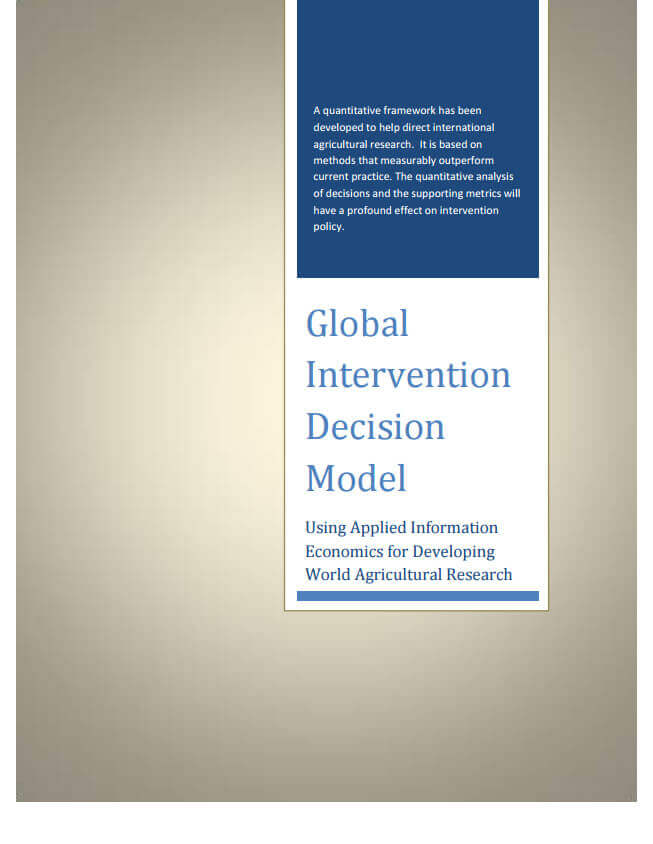 CGIAR - Global Intervention Decision Model Document